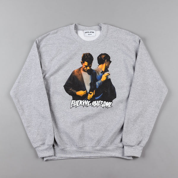 Fucking Awesome Brothers Crewneck Sweatshirt - Heather Grey