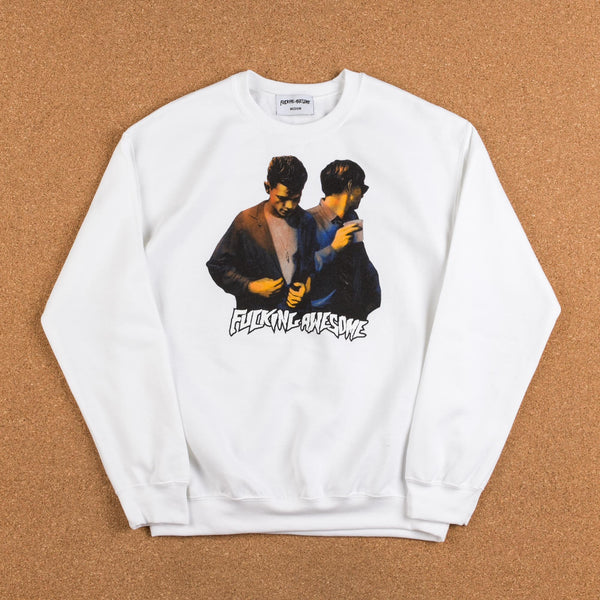 Fucking Awesome Brothers Crewneck Sweatshirt - White