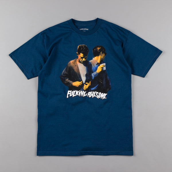 Fucking Awesome Brothers T-Shirt - Harbor Blue