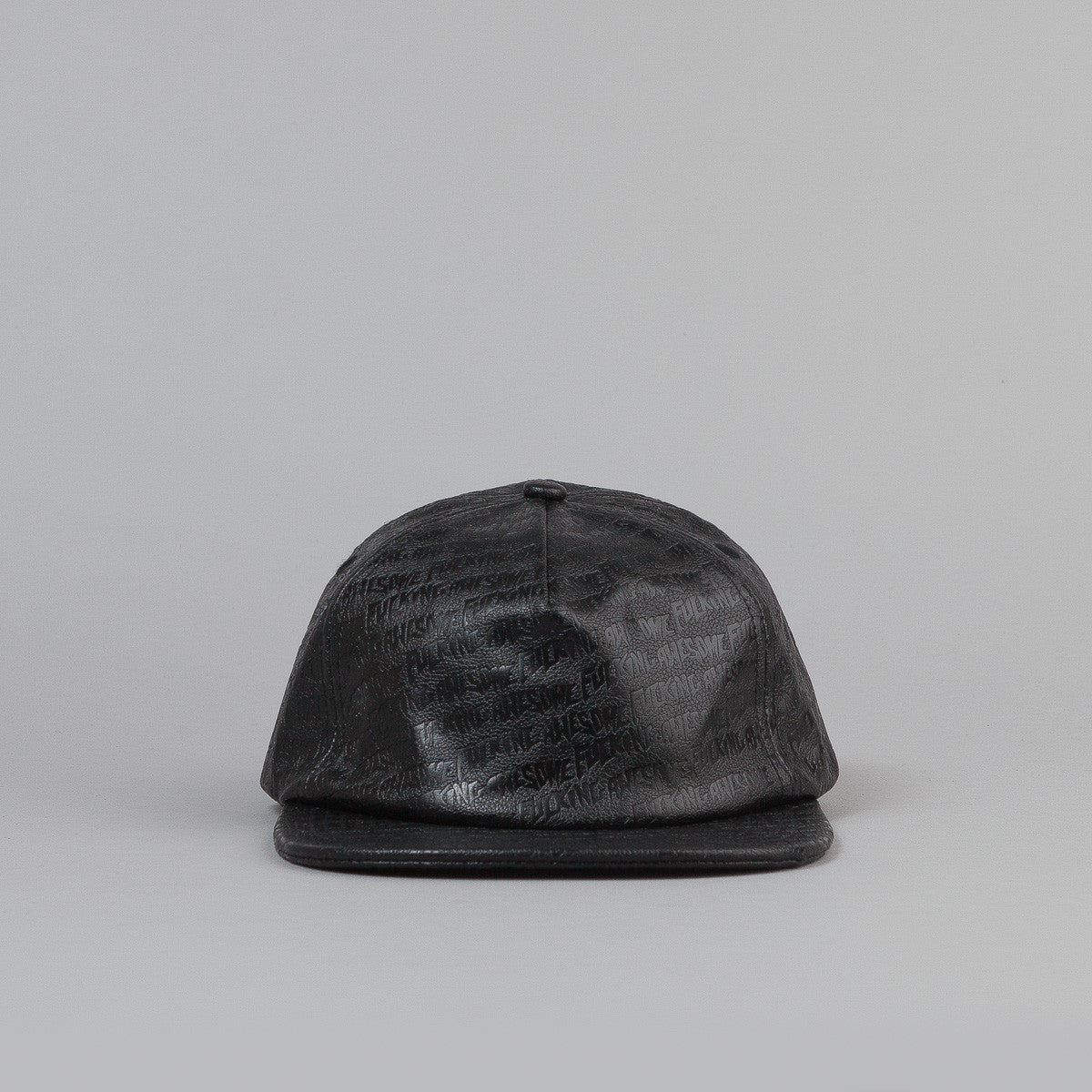 Fucking Awesome Embossed Leather Cap - Black