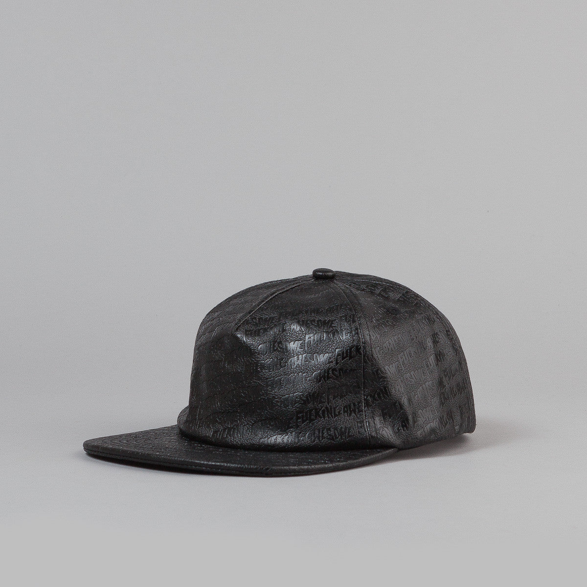 Fucking Awesome Embossed Leather Cap
