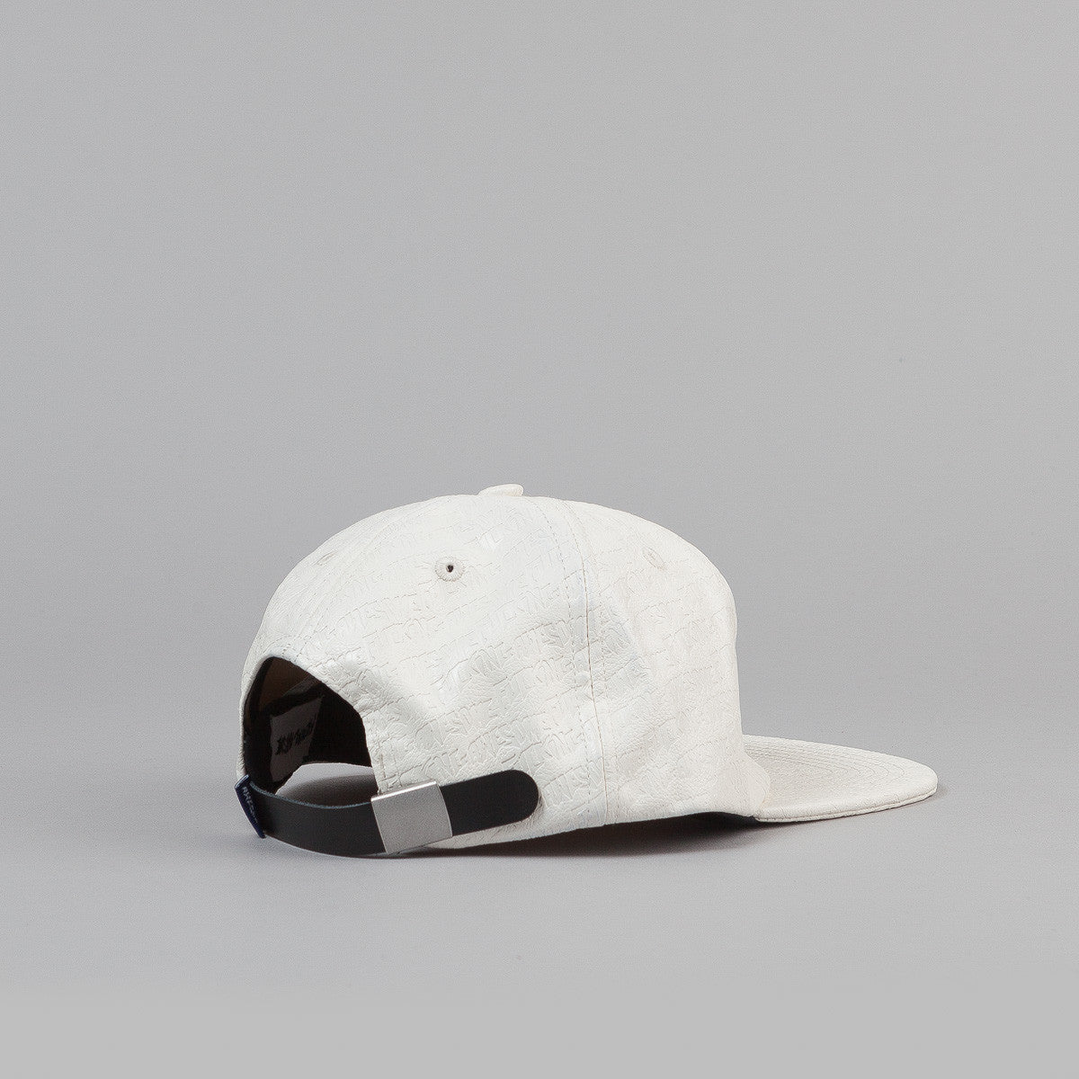 Fucking Awesome Embossed Leather Cap - White