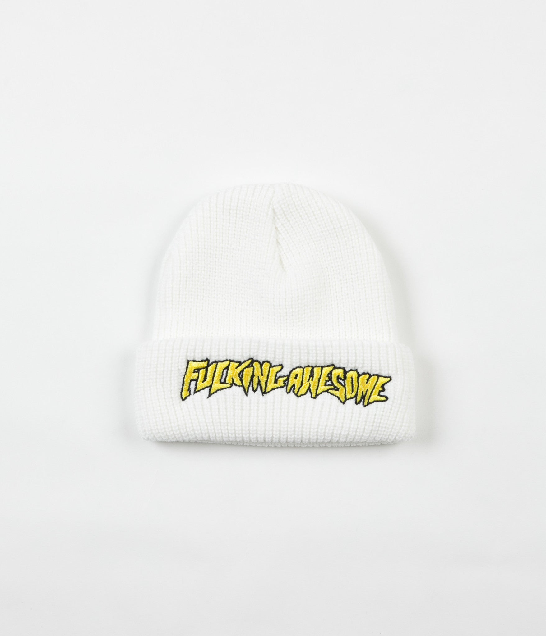 Fucking Awesome FA Beanie - White