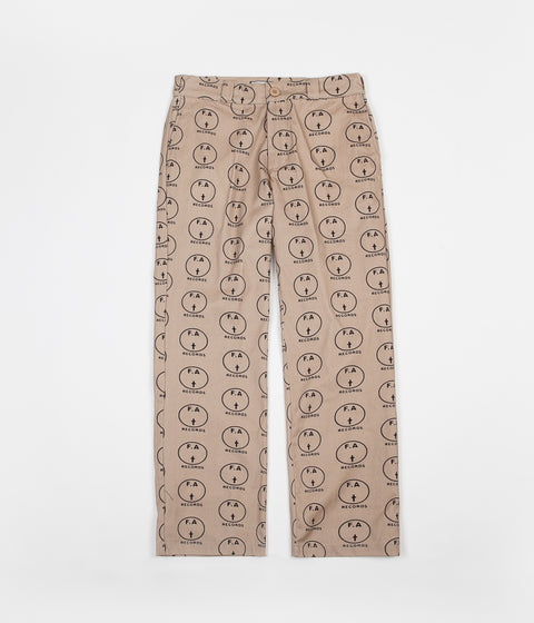 Fucking Awesome FA Records Pants - Khaki / Black