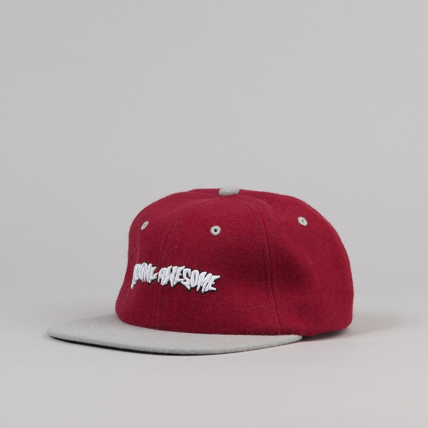 Fucking Awesome Felt Logo 6 Panel Cap - Maroon