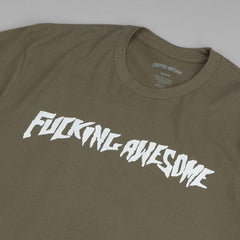 Fucking Awesome Logo T-shirt - Army Green