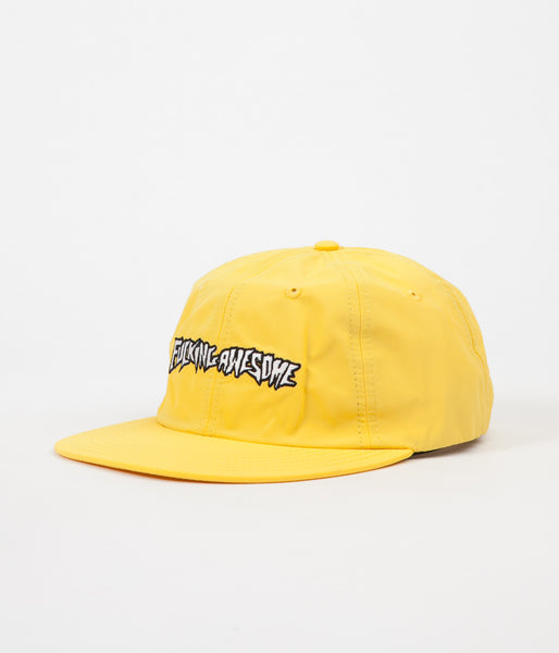 Fucking Awesome Outline Logo Cap - Yellow