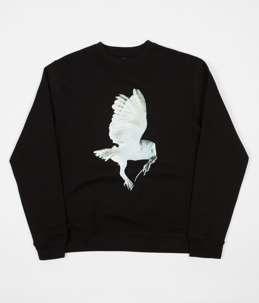 Fucking Awesome Owl Crewneck Sweatshirt - Black