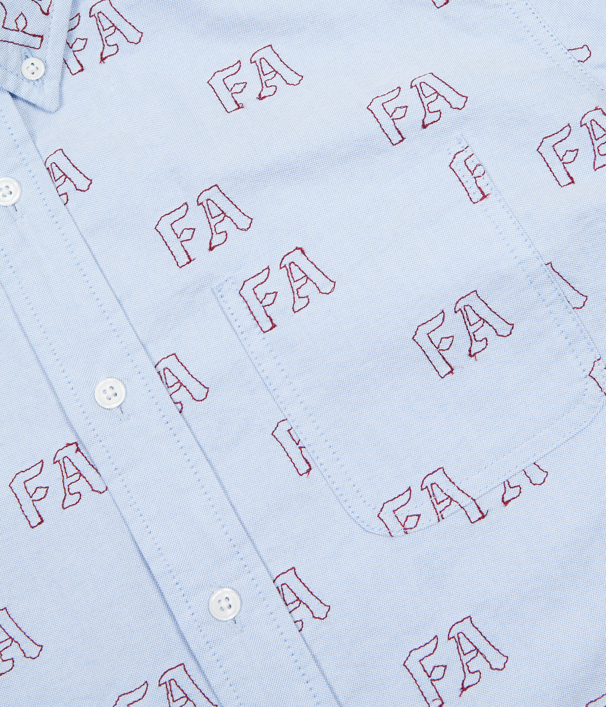 Fucking Awesome Oxford Button Down Shirt - Blue