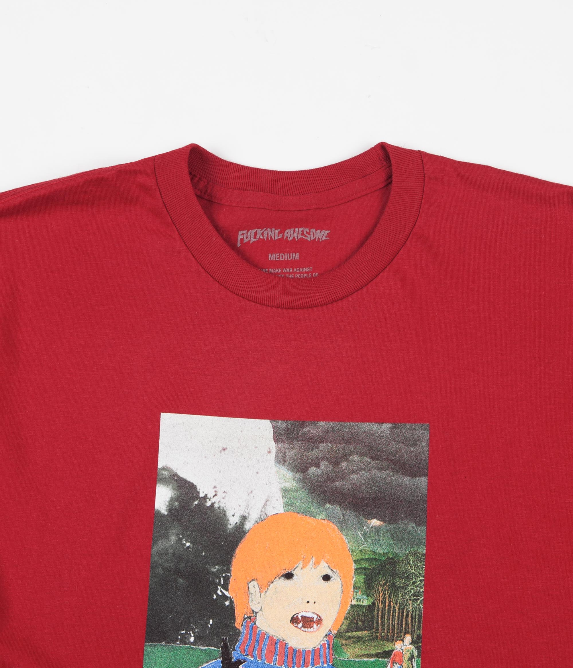 Fucking Awesome Painted Aidan T-Shirt - Scarlet Red