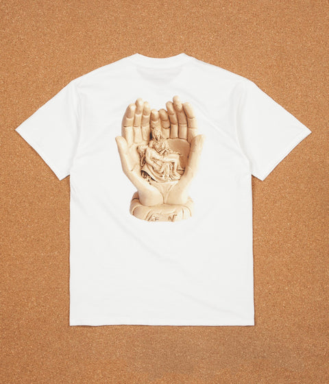 Fucking Awesome Statues Hands T-Shirt - White