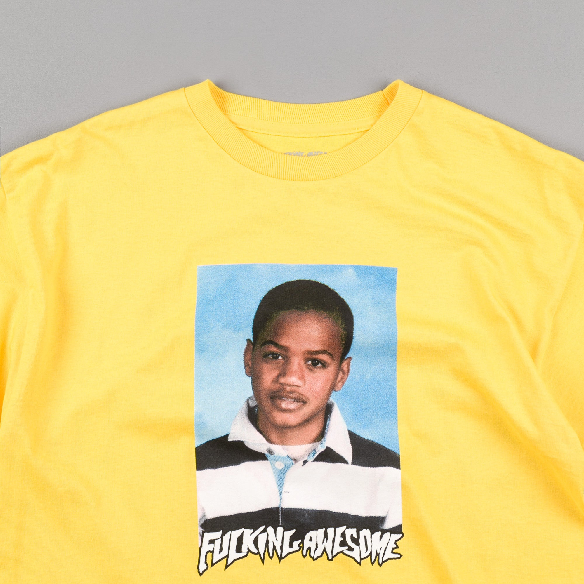 Fucking Awesome Tyshawn Class Photo T-Shirt - Yellow