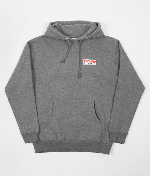 Fucking Awesome x Thrasher Trash Me Hoodie - Grey Heather
