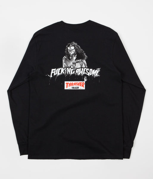 Fucking Awesome x Thrasher Trash Me Long Sleeve T-Shirt - Black
