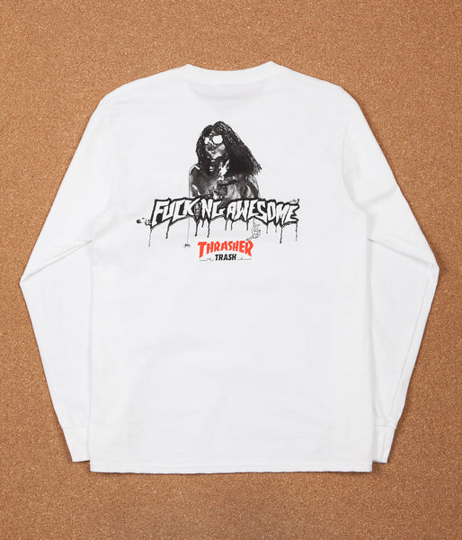 Fucking Awesome x Thrasher Trash Me Long Sleeve T-Shirt - White