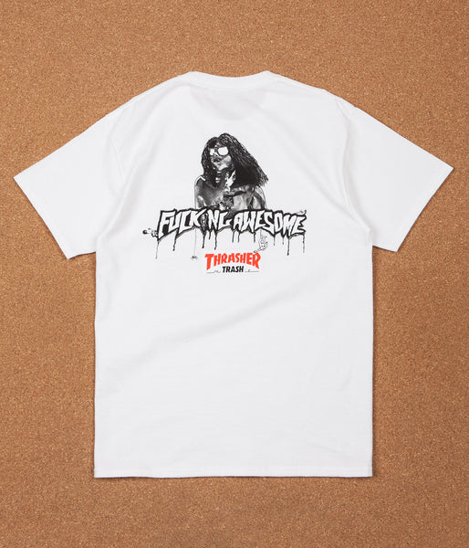 Fucking Awesome x Thrasher Trash Me T-Shirt - White