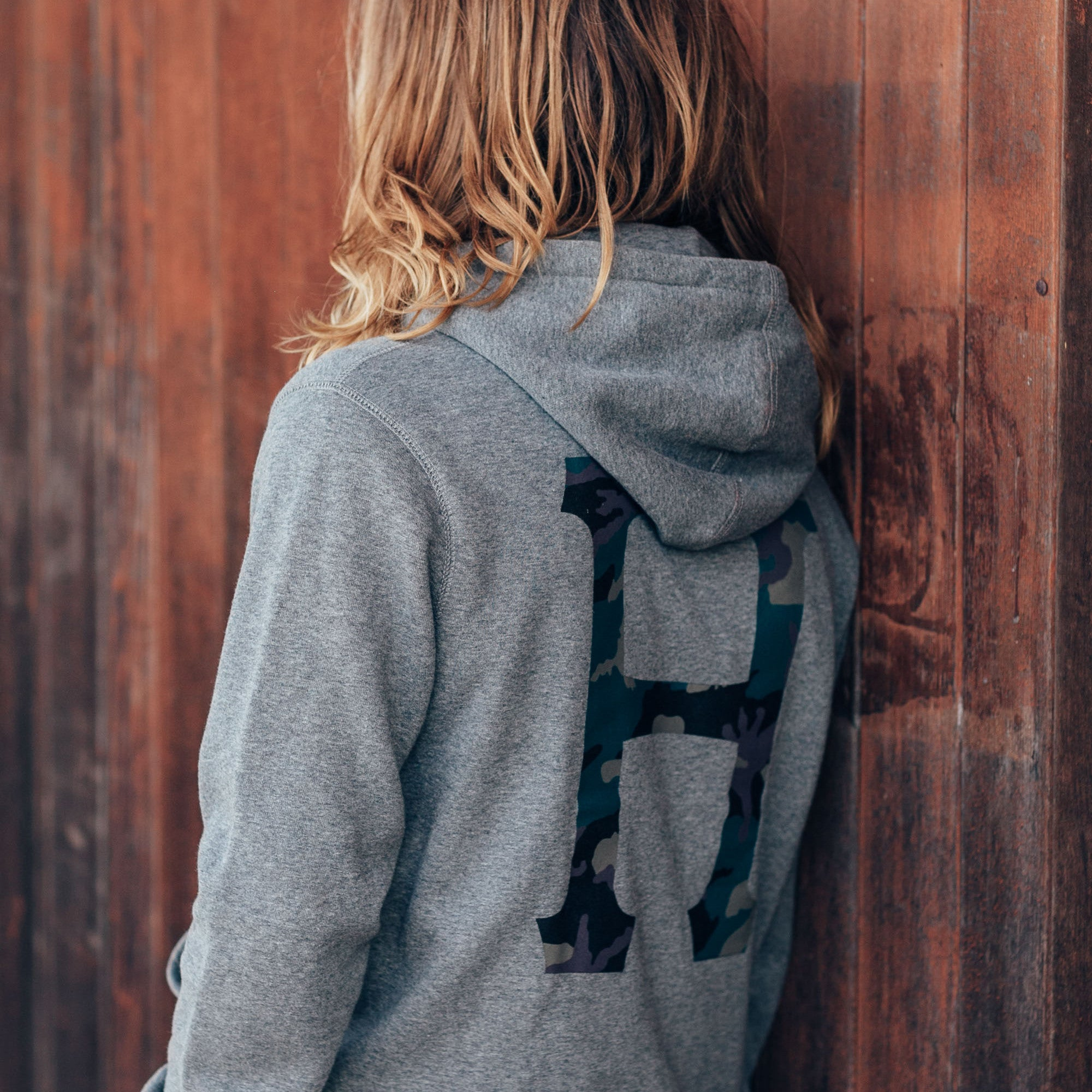 HUF Muted Military Classic H Hooded Sweatshirt - Grey Heather