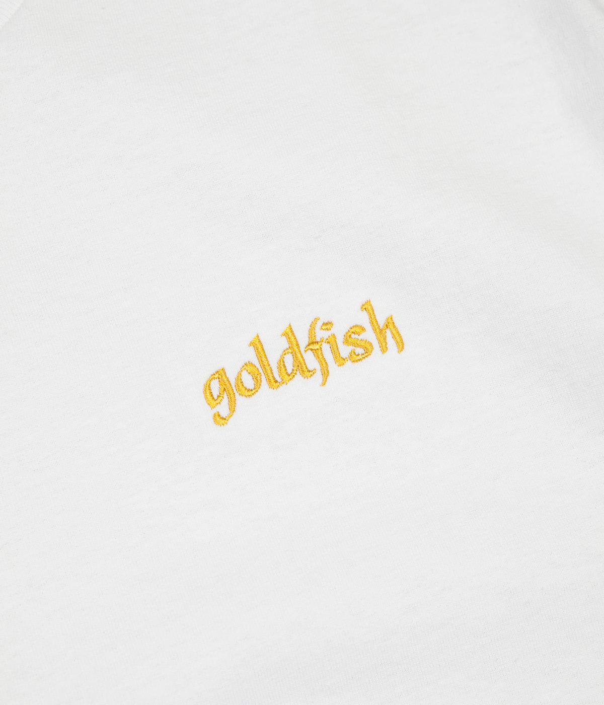 Girl Goldfish Embroidered T-Shirt - White