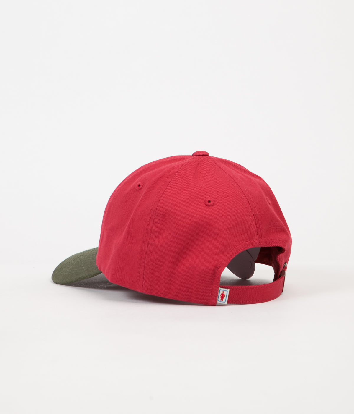 Girl Micro OG Strapback Cap - Red / Green