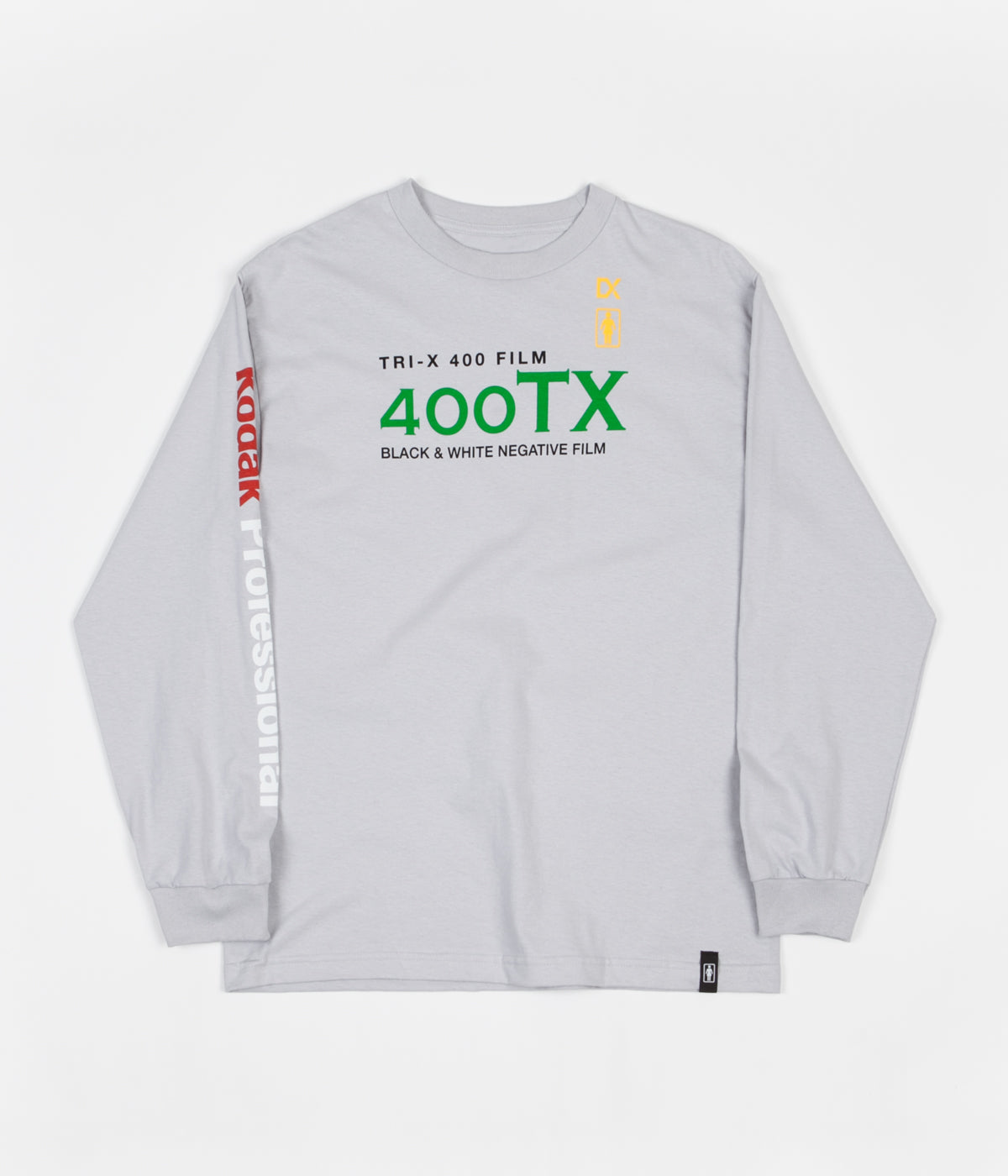 Girl x Kodak Tri-X Long Sleeve T-Shirt - Silver