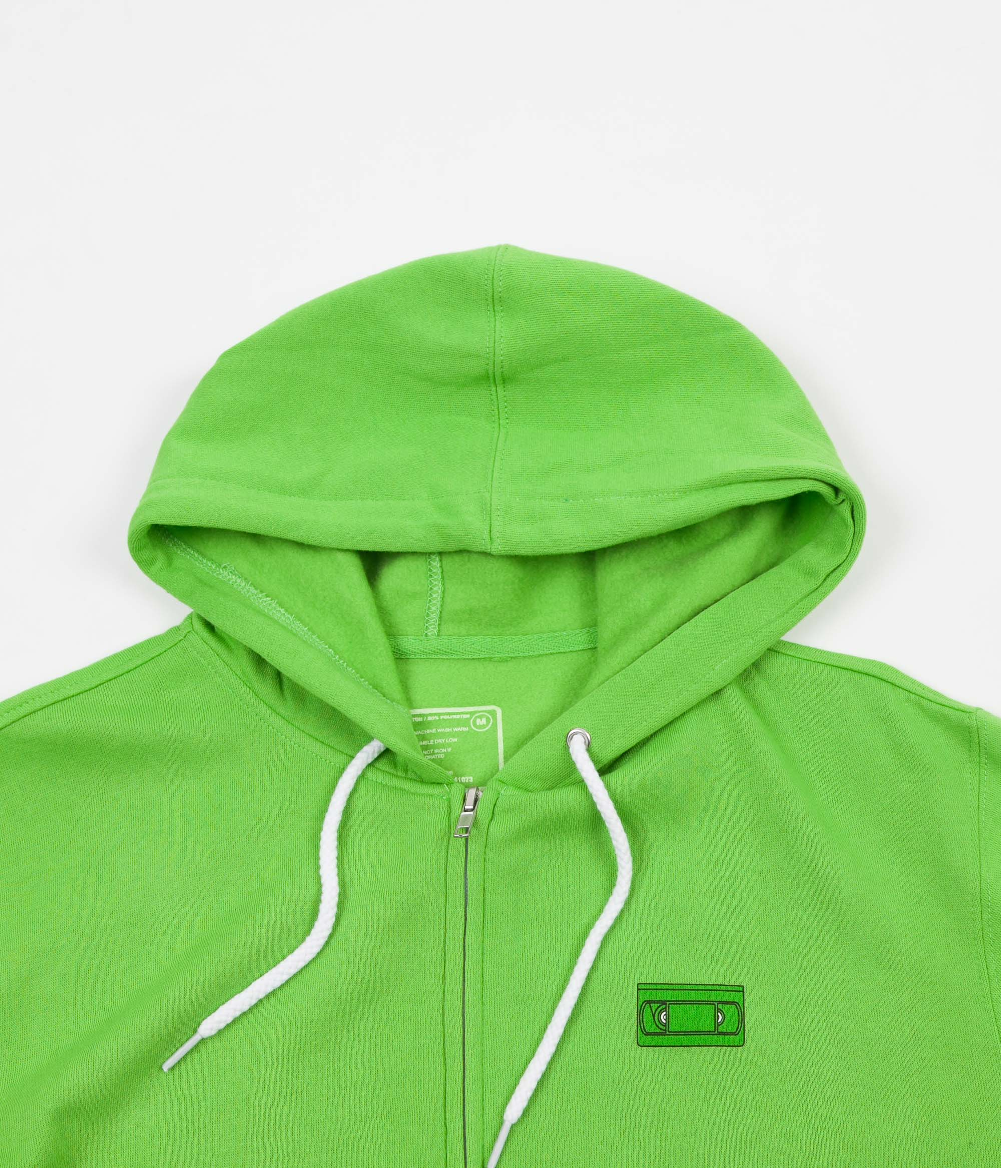 Girl Yeah Right! Zip Hoodie - Lime Green