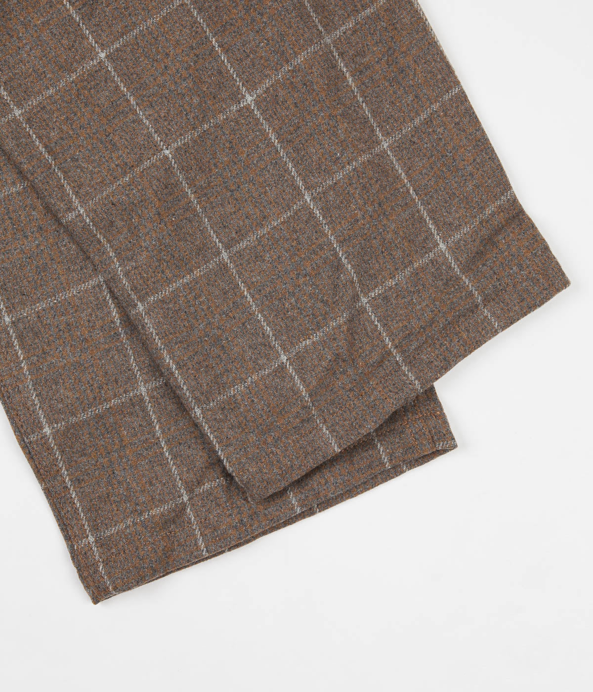 Gramicci Wool Blend Gramicci Pants - Glen Check Camel