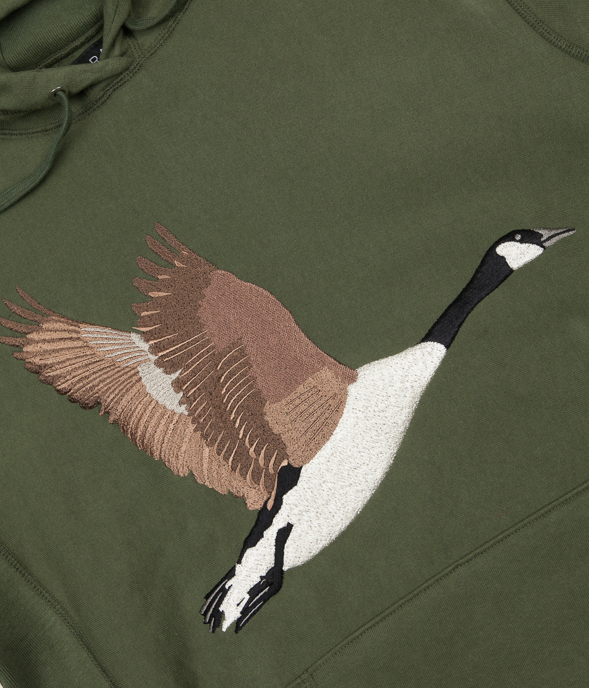 9877bbbcbd10 Grand Collection Goose Souvenir Hoodie - Olive ...