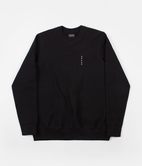 Grand Collection Grand Premium Crewneck Sweatshirt - Black