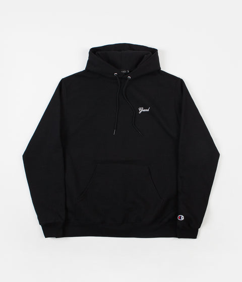 Grand Collection Script Hoodie - Black