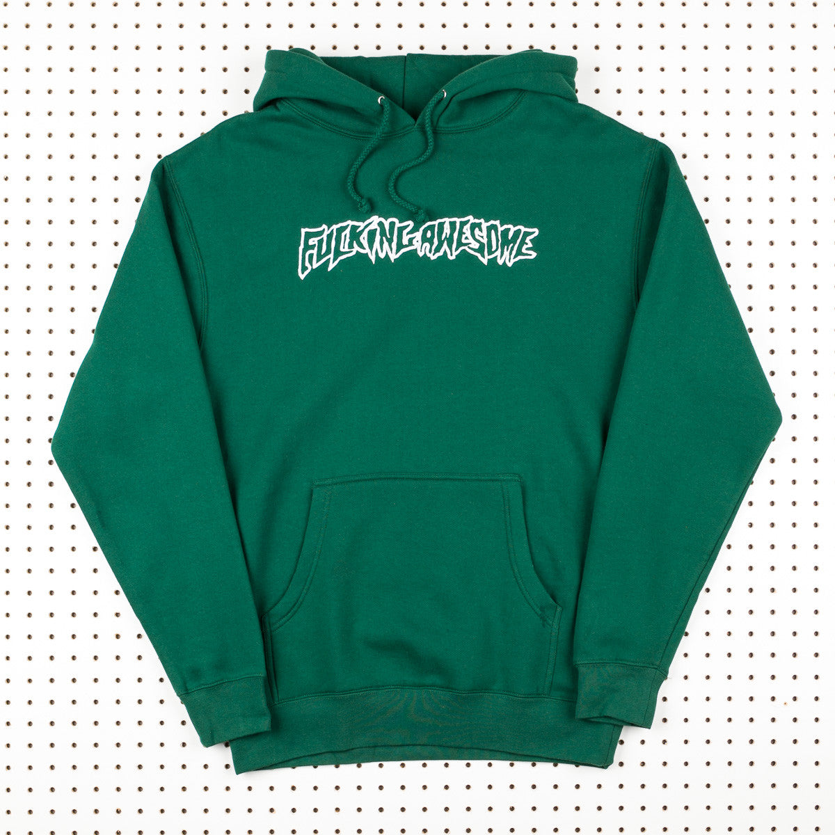 Fucking Awesome Embroidered Outline Hooded Sweatshirt - Green