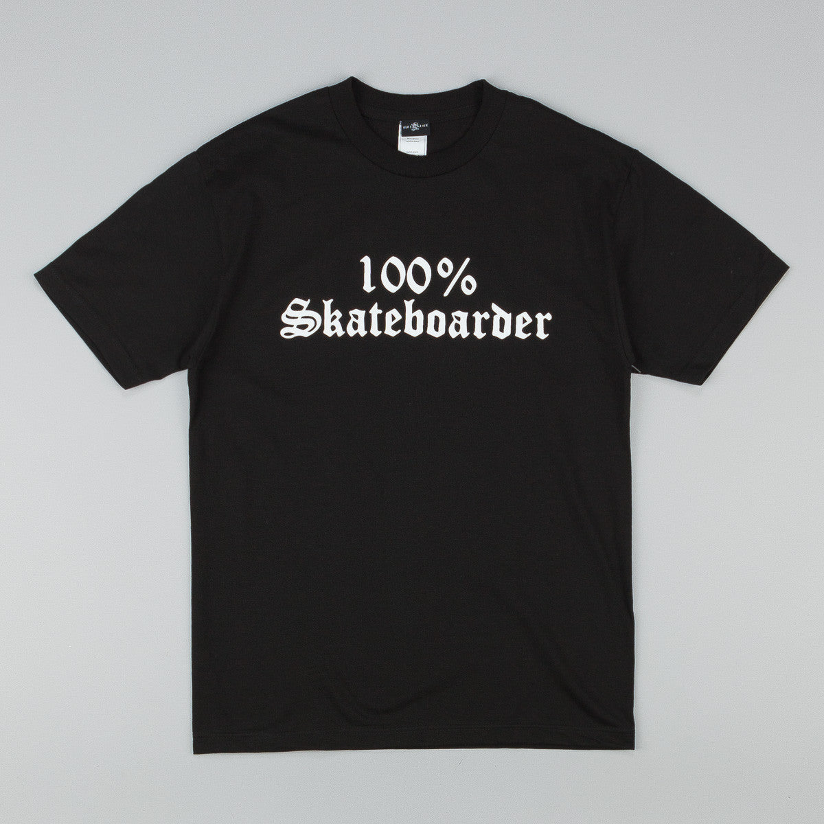 Hard Luck 100% Skateboarder T-Shirt - Black