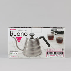 Hario V60 Coffee Drip Kettle 'Buono' - Stainless Steel