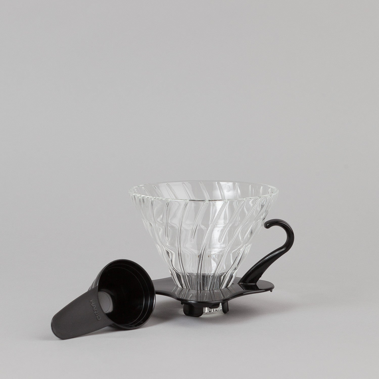 Hario V60 Glass Coffee Dripper - Black