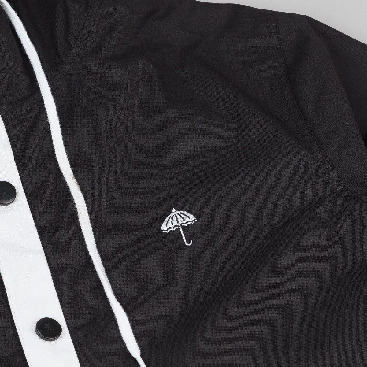Helas Badman Hooded Coach Jacket - Black