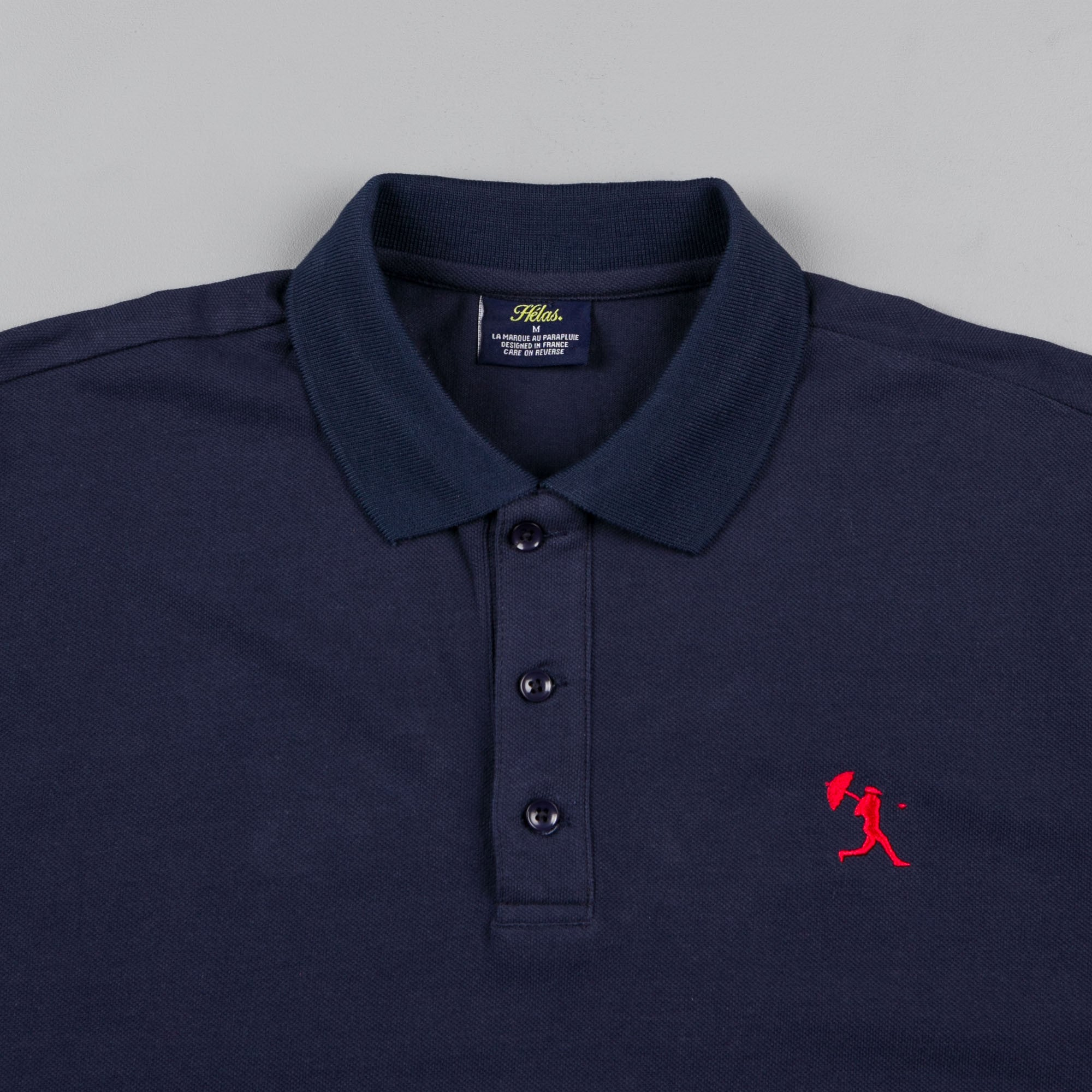 Helas Baller Long Sleeve Polo Shirt - Navy