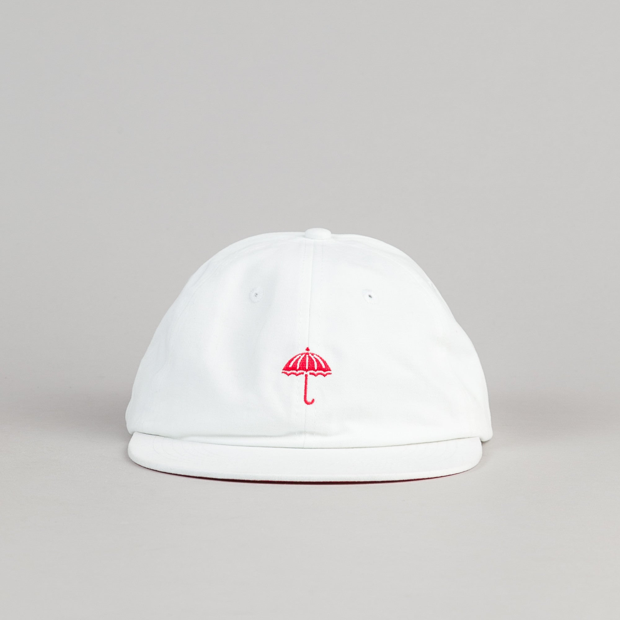 Helas Classic 6 Panel Cap - White / Red