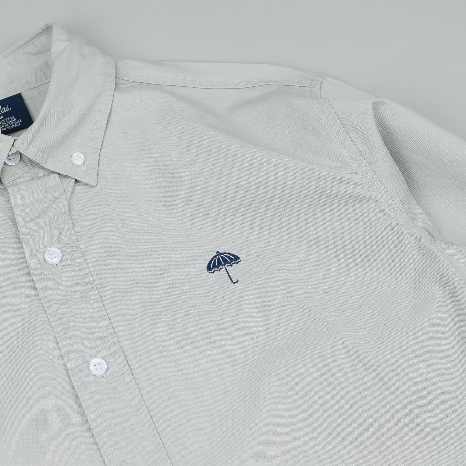 Helas Classic Long Sleeve Button Shirt - Grey