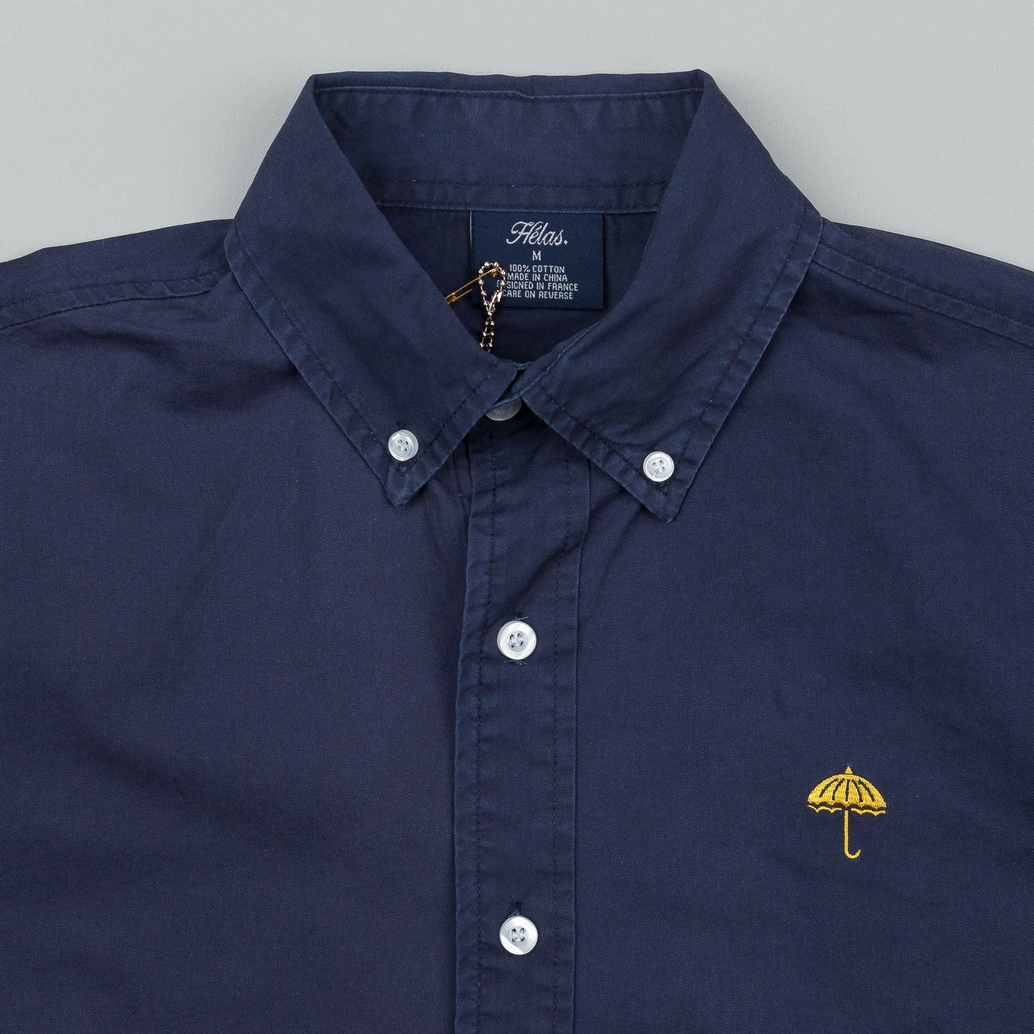 Helas Classic Long Sleeve Button Shirt - Navy