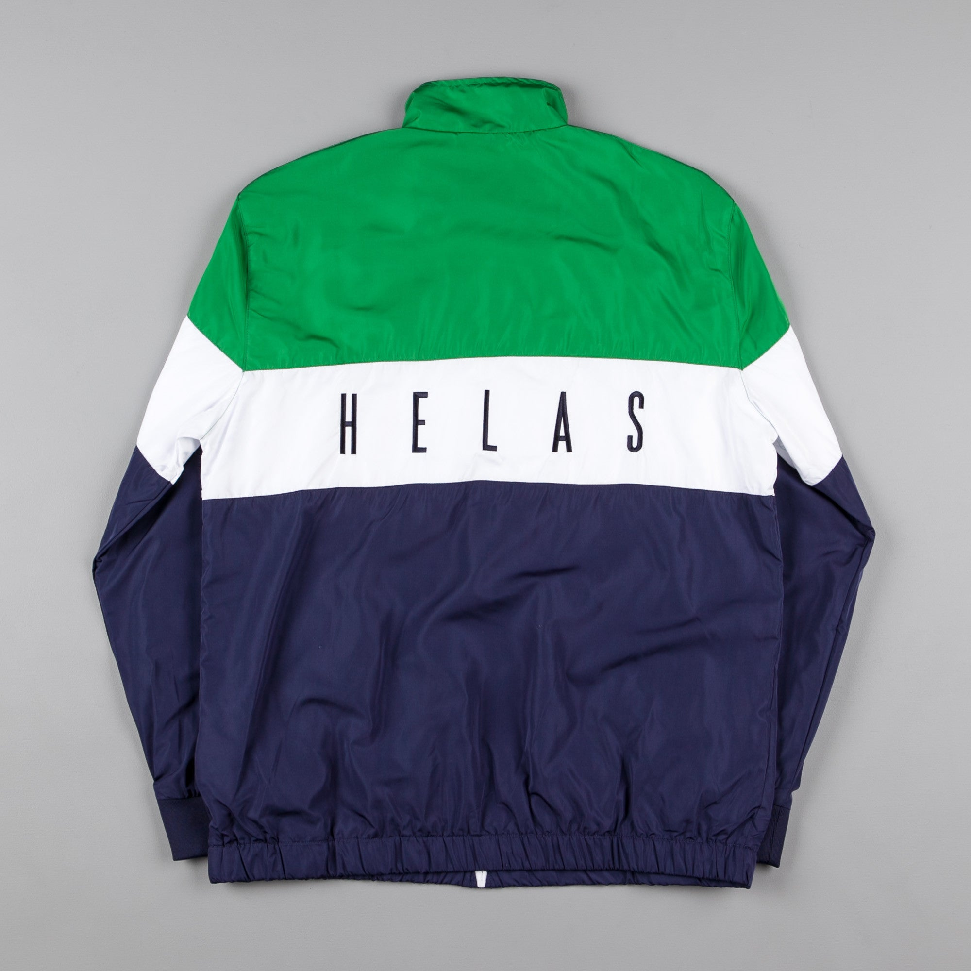 Helas Corner Tracksuit Jacket - Navy Blue / White / Green