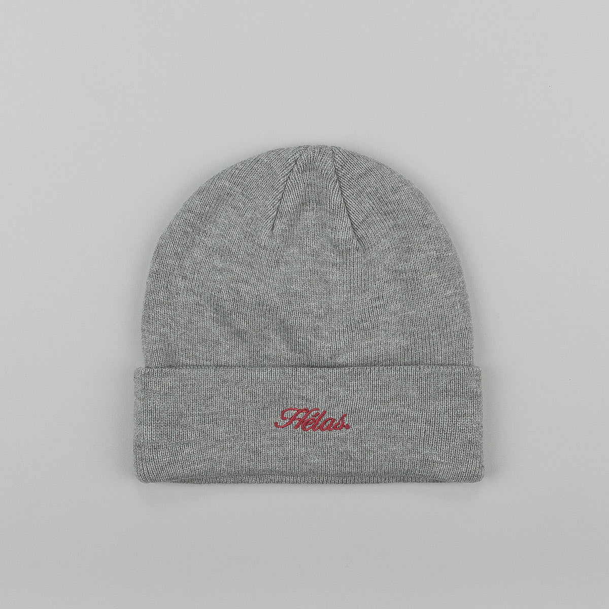 H©las Embroidered Beanie - Grey
