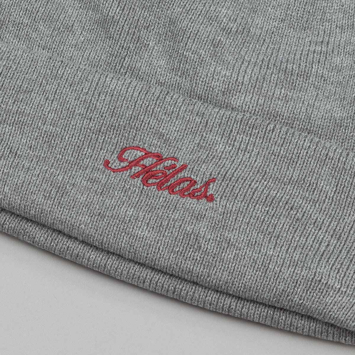 Helas Embroidered Beanie - Grey