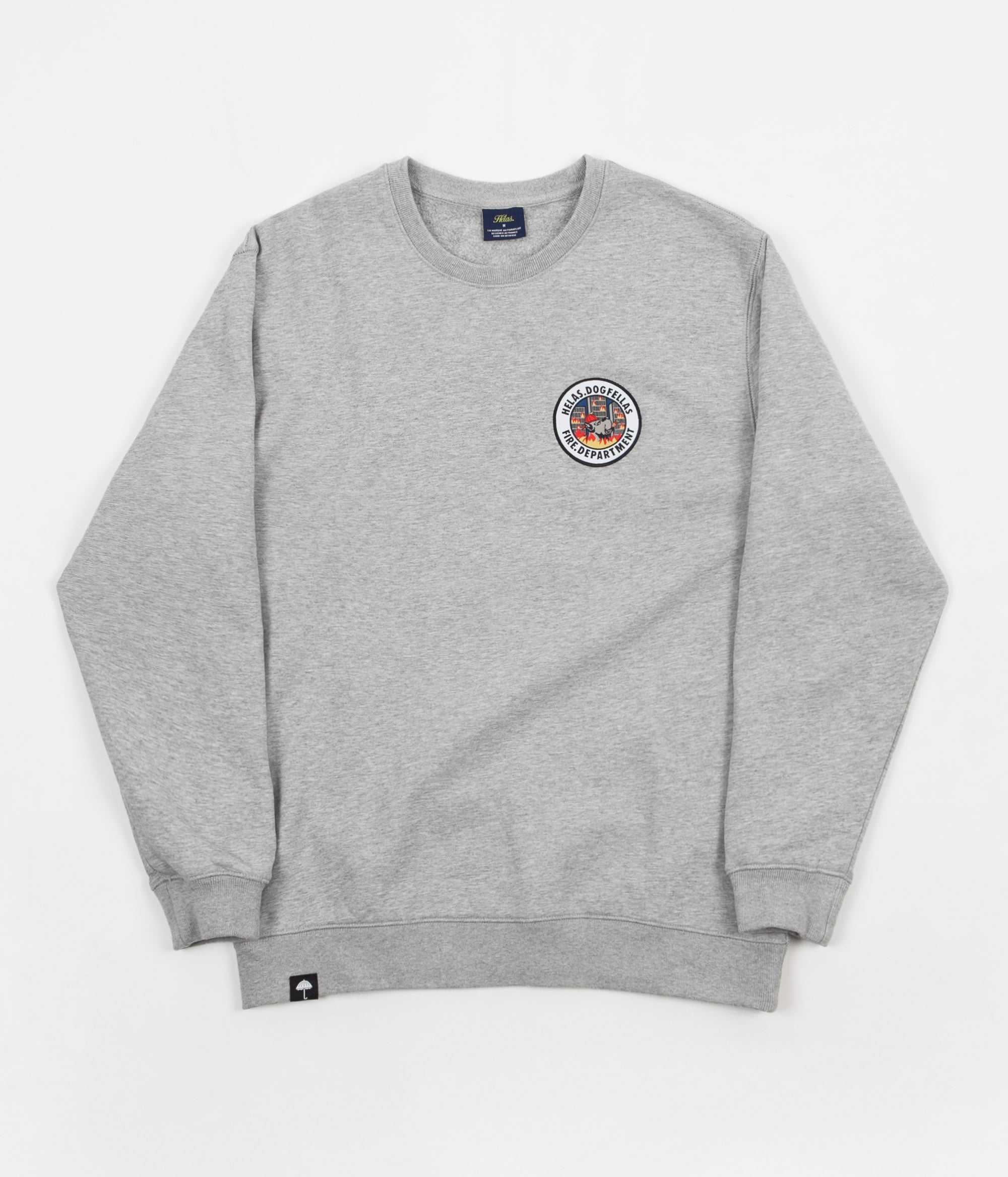 Helas Fire Department Crewneck Sweatshirt - Heather Grey