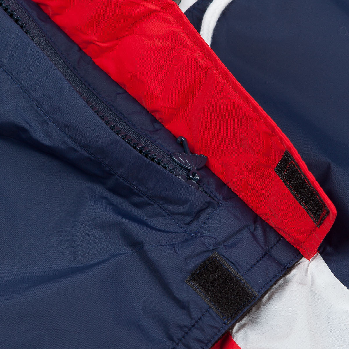 Helas Kanguru Hooded Jacket - Navy / Red