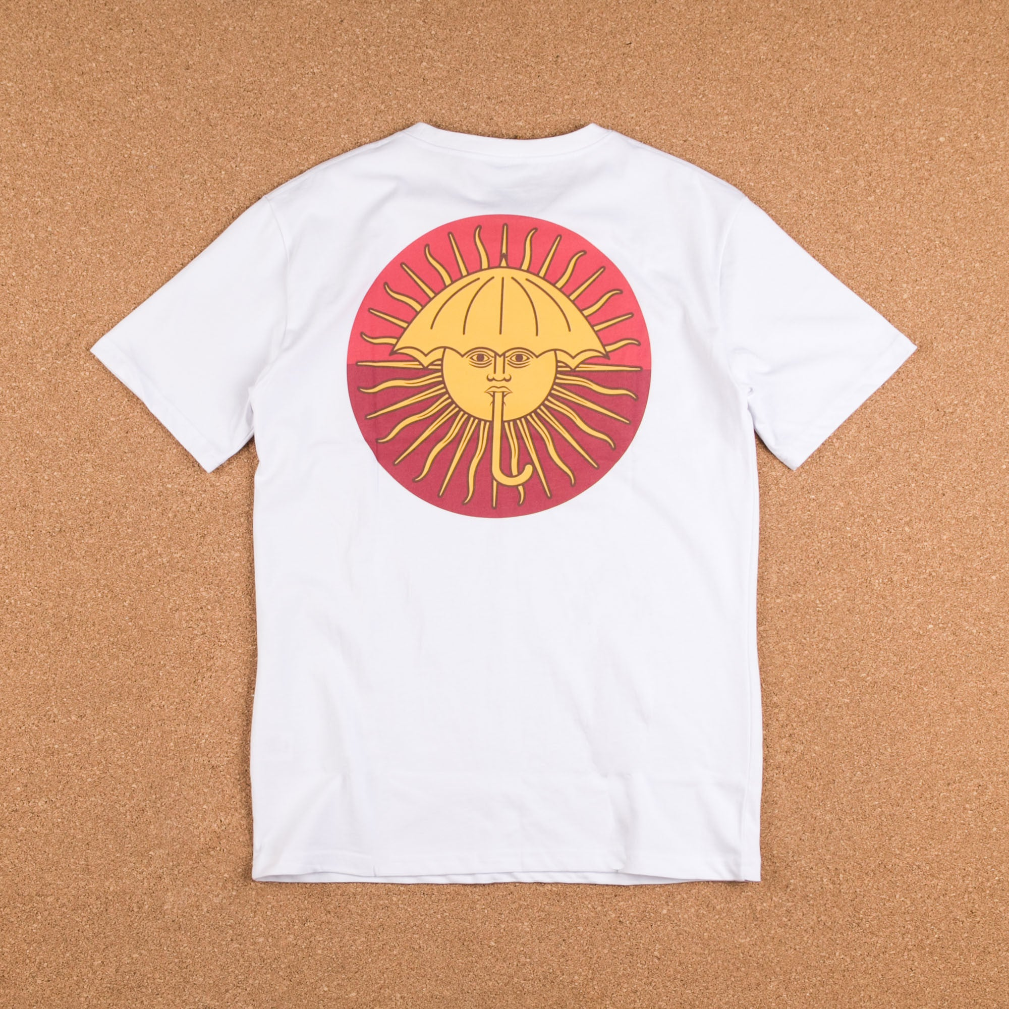 Helas Parasol De Mayo T-Shirt - White / Red / Burgundy