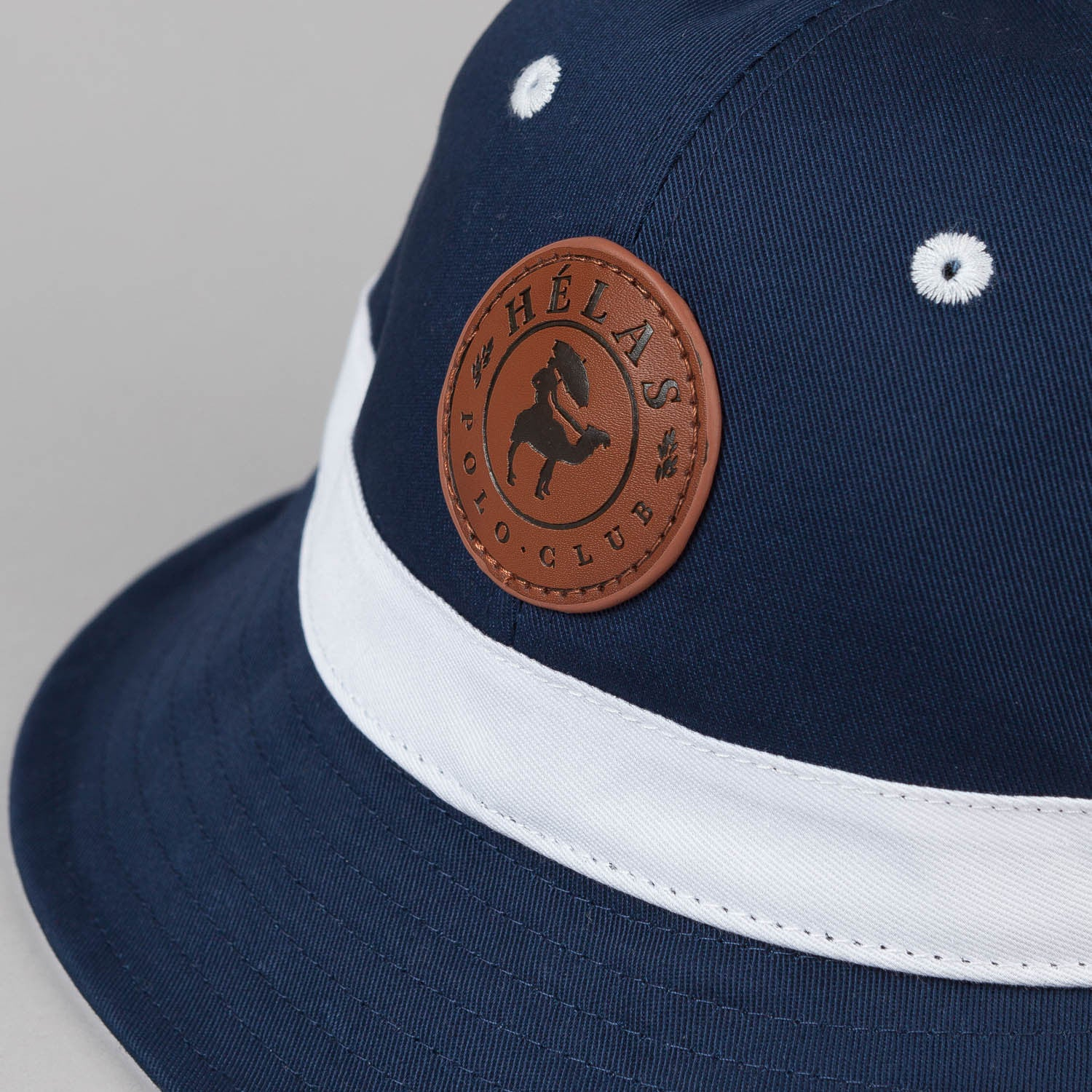 Helas Polo Club 6 Panel Bucket Hat - Navy Twill