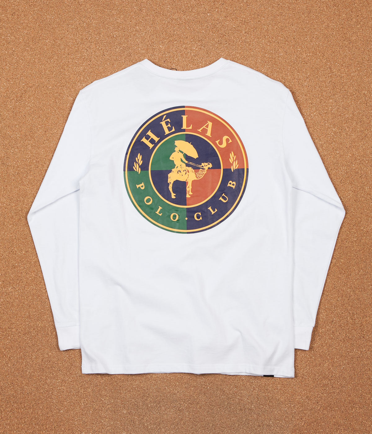 Helas Polo Club Long Sleeve T-Shirt - White