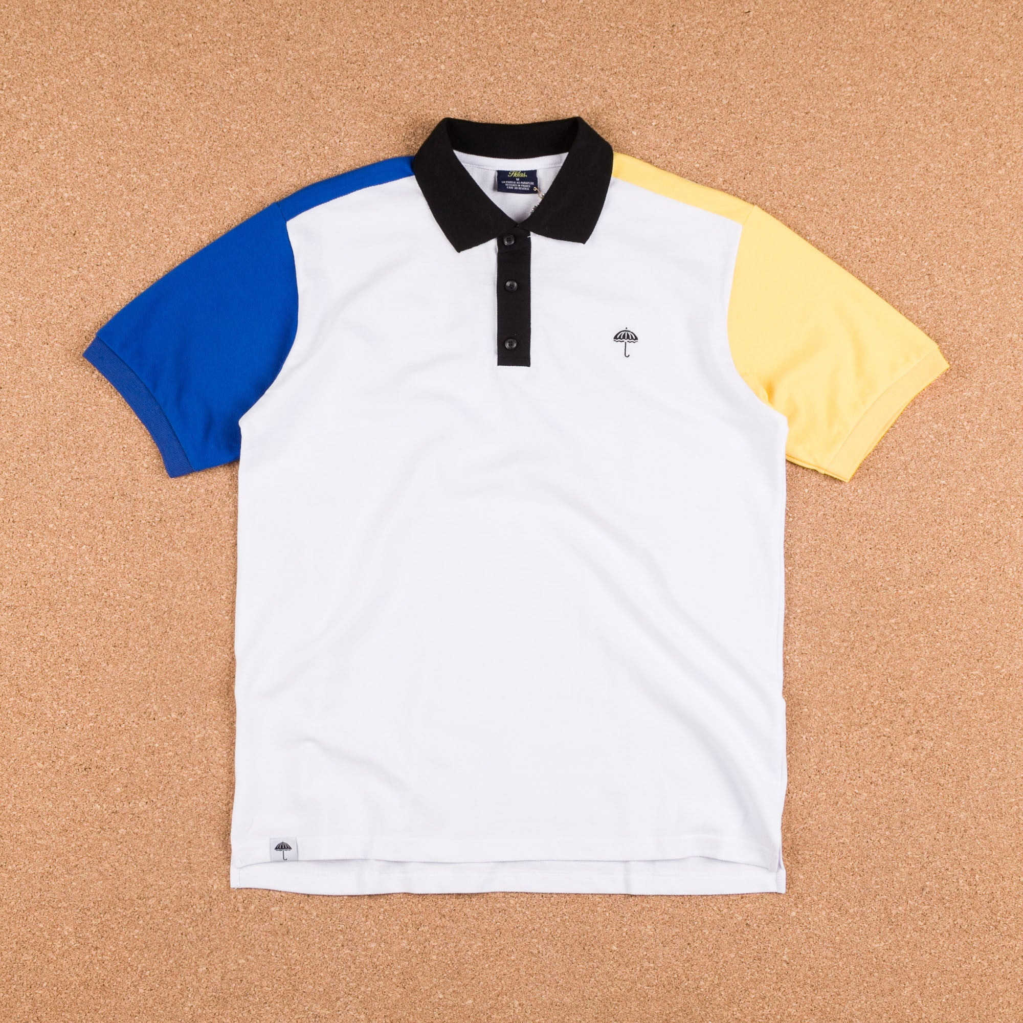 Helas Quatro Inferno Polo Shirt - White / Navy / Yellow / Black