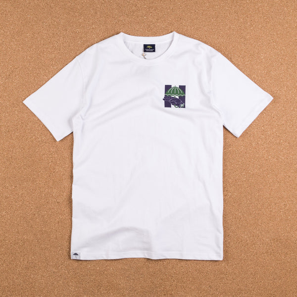 Helas Silent H-Gun T-Shirt - White / Navy / Green