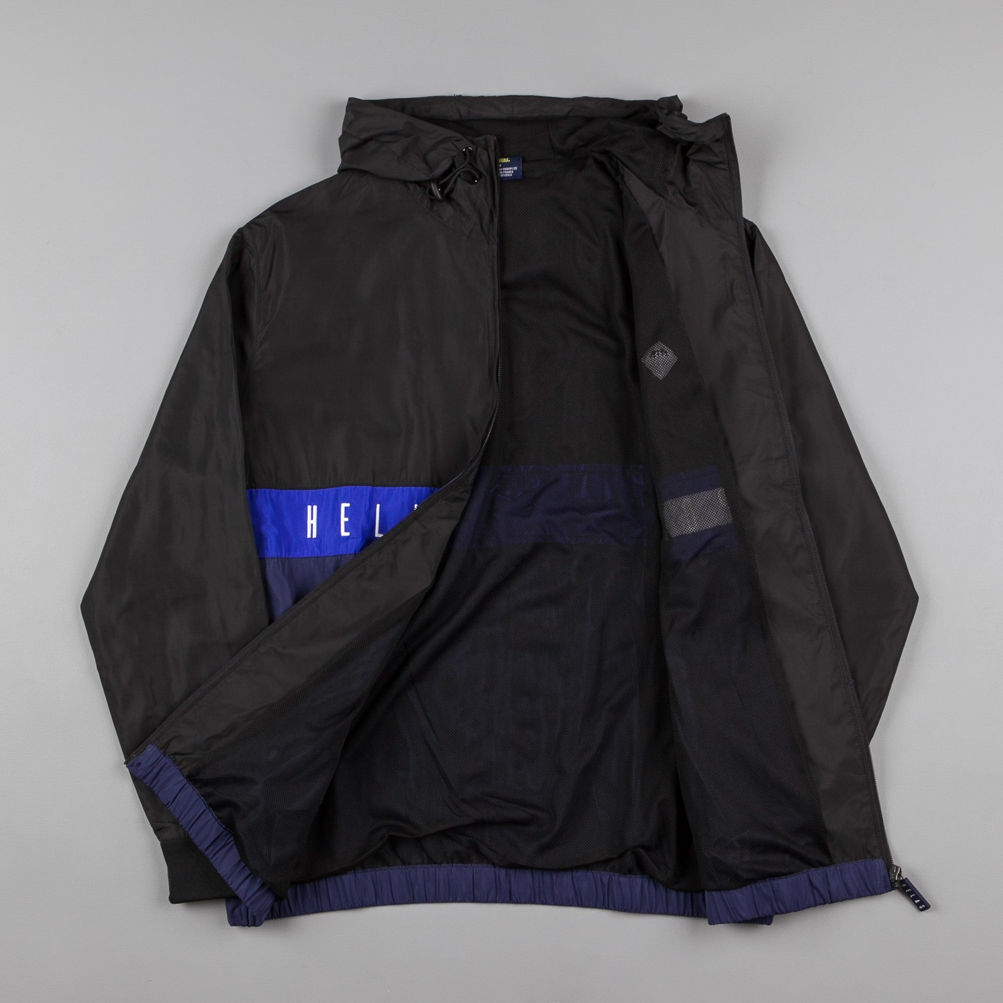 Helas Sport Hooded Tracksuit Jacket - Black / Blue / Navy