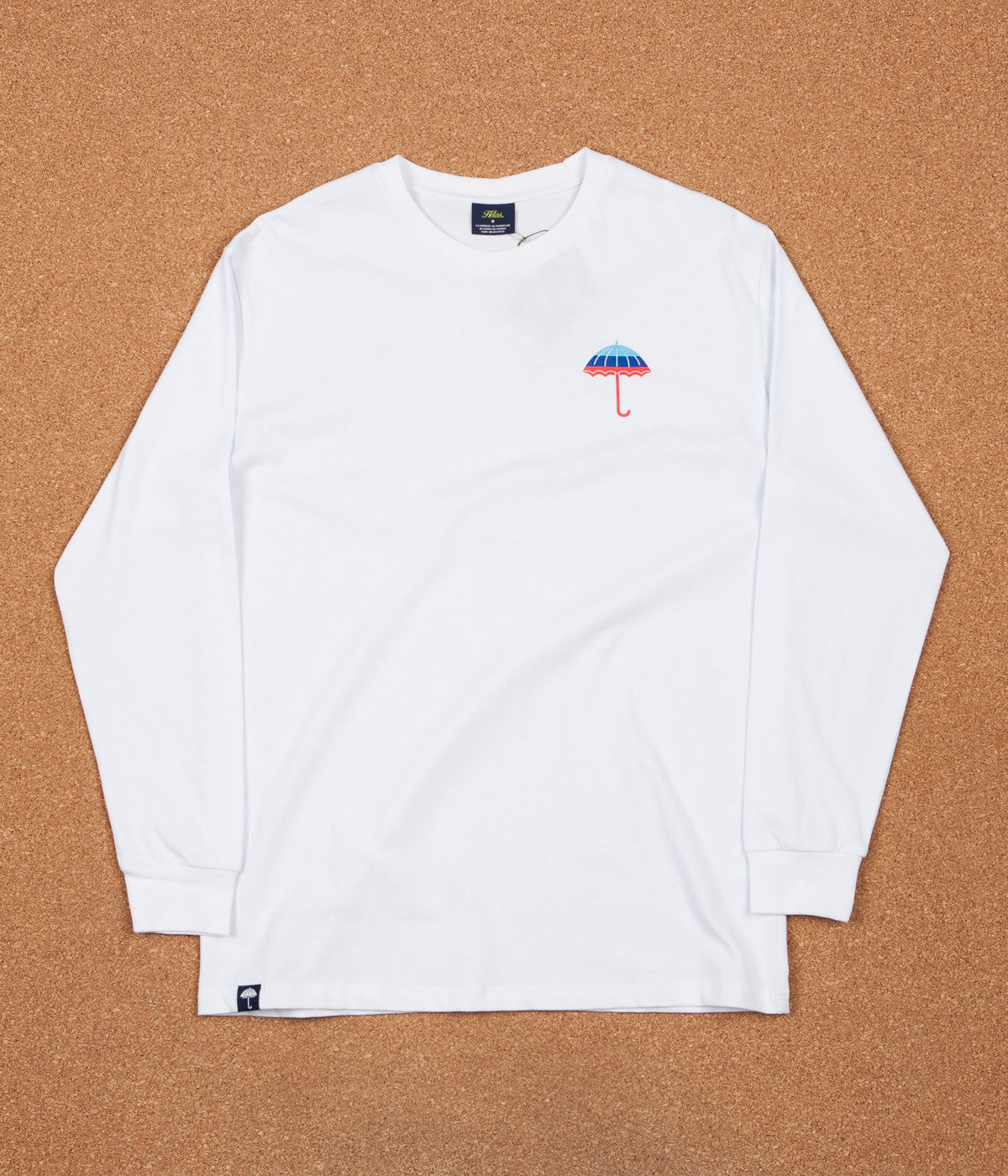 Helas Umbrella Long Sleeve T-Shirt - White / Blue / Navy / Red